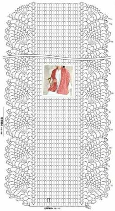 Crochet scarf pattern i couldn t find the pattern for thi - Stola Stricken Crochet Shawl Diagram, Crochet Stitches Patterns, Crochet Poncho, Love Crochet, Crochet Scarves, Crochet Tablecloth, Crochet Doilies, Crochet Lace, Filet Crochet