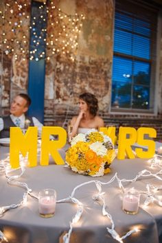 Yellow and Grey Colorado Wedding by Urban Safari Photography