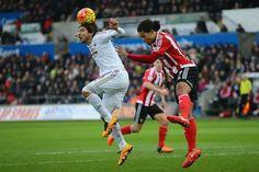 Alberto Paloschi - Swans new Italian striker playing against Southampton in the 1-0 loss