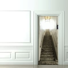 Optische Täuschung mit fototapet treppe