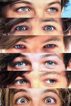"""""""Louis' eyes, there was flames at the start, then he brought so much light they tarted to burn out"""" Niall Horan, Zayn Malik, Louis Tomlinsom, Louis And Harry, Louis Tomlinson Eyes, Tomlinson Family, Bon Point, One Direction Louis, Louis Williams"""