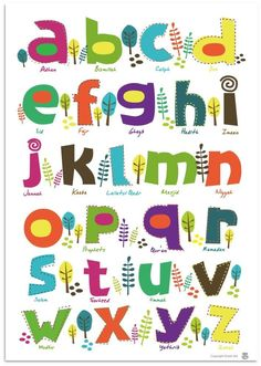 More inspiration for an alphabet quilt. I love that free-form feeling!
