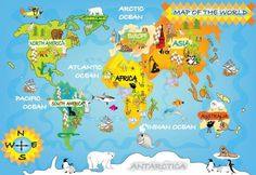 Items similar to Kids map wall mural, repositionable peel & stick wall paper, wall covering, wall decal on Etsy Cool World Map, Kids World Map, World Map Wallpaper, Wall Wallpaper, World Map Tattoos, Map Diagram, Maps For Kids, Africa Map, Oceans Of The World
