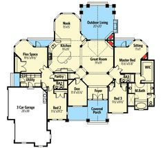 Intimate Master Suite Porch - 23281JD | Craftsman, Northwest, 1st Floor Master Suite, Bonus Room, Butler Walk-in Pantry, CAD Available, Den-Office-Library-Study, MBR Sitting Area, Media-Game-Home Theater, PDF, Corner Lot | Architectural Designs