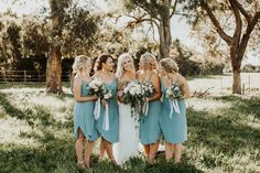 In fact the only thing I can say about this wedding is that I wish it lasted longer. Oakley and James, thank you for inviting me along to Lauren Lewis, Dusty Blue Bridesmaid Dresses, Grace Loves Lace, Oakley, Real Weddings, Wrap Dress, Wedding Dresses, Photography, Amber