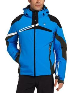 Spyder Men's Alps Jacket, Collegiate/Black/White, Medium by Spyder. $749.95. Its visual angulation, shorter profile, and color blocking delivers an intense impact. If a super bike were a ski jacket, it would be the Alps.