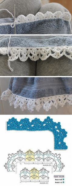 Lace edging pattern diagram #crochet                                                                                                                                                                                 Más                                                                                                                                                                                 Más