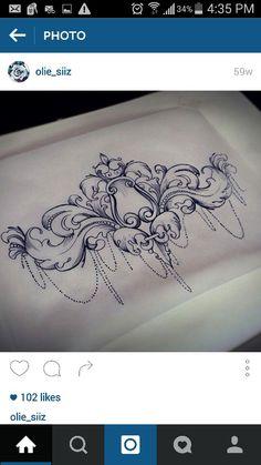 Filigree & Chains to finish up Loki piece #tattoo