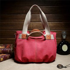 Women Vintage Canvas Tote Bags Casual Shoulder Bags Capacity Shopping Bags Cross - US$35.99
