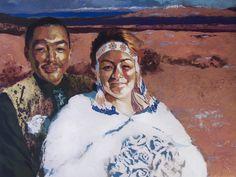 Mance Lanctot - Les mariés de la toundra Marie, Princess Zelda, Cold, Painting, Fictional Characters, Paintings, Draw, Drawings