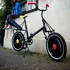 Bike that plays records. awesome.