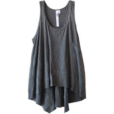 Wilt Grey Pocket Boyfriend Tank (1.000 ARS) ❤ liked on Polyvore featuring tops, shirts, tank tops, tanks, cotton tank, cotton racerback tank, pocket shirt, pocket tanks and racer back tank top