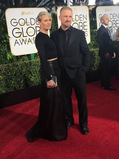 Robin Wright at the 72nd Annual Golden Globe Red Carpet
