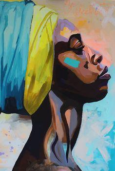 Pop Art Portrait - art worlds Canvas Art Prints, Canvas Wall Art, Canvas Poster, Wall Prints, Framed Art Prints, Portraits Pop Art, Portrait Art, Art Africain, Beginner Painting