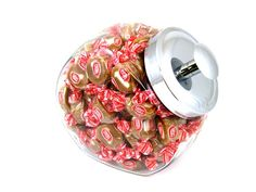 Share for $5 off your purchase of $50 or more!  Glass Candy Jar (Caramel Creams)