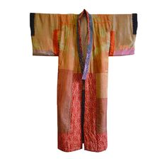 Sri | A Beautifully Dyed and Padded 19th Century Pieced Silk Juban: Natural