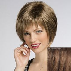 Women's Straight Trendy Short Human Hair Wig #CLICK! #clothing, #shoes, #jewelry, #women, #men, #hats, #watches