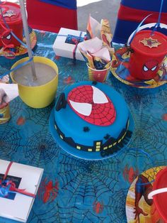 #Spiderman party idea for kids | #Cake #Birthday