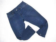 ROY indigo BLACK 'N BLUE CANVAS SELVEGE DENIM JEAN/PANT 33 x 29 Self Edge Slaper #ROY #ClassicStraightLeg