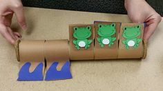 5 Little Froggies (with built in pool) Children, Kids, Gift Wrapping, Activities, Learning, Projects, Crafts, Young Children, Young Children