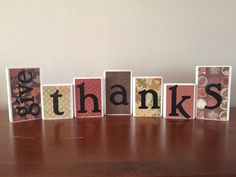 Give Thanks Block set / Give Thanks blocks / by WoodnExpressions
