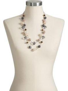 Multi-Chain Beaded Illusion Necklaces