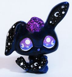 LPS Galaxy Bunny OOAK Custom figure Littlest by LittleCustomShop