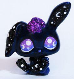 LPS Galaxy Bunny OOAK Custom figure Littlest by LittleCustomShop