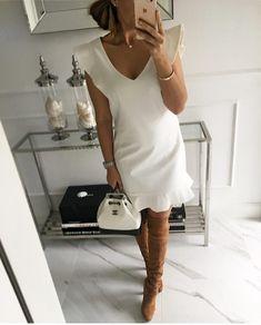 """Polubienia: 1,624, komentarze: 16 – 5 (@high_5_to_fashion) na Instagramie: """"@world_fashion_styles @mint_label_ - White """"Dover"""" Dress - Mint Label #style #ootd #look #stylist…"""""""