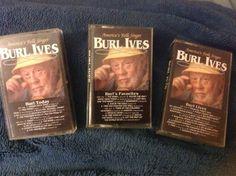 Lot Of 3 Burl Ives Cassettes Burl Today - Burl's Favorites - Burl Lives #TraditionalFolk
