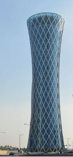 Tornado Tower, Qatar 2008. CICO Consulting Architects and Engineers. The funnel shape is aerodynamic as well as elegant.