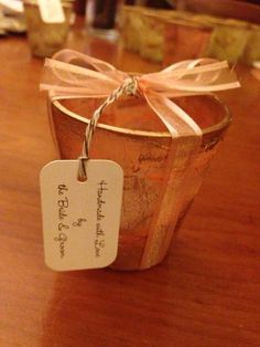 Handmade wedding souvenirs - candle votives