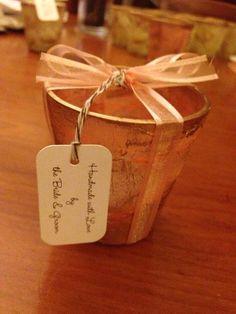Handmade wedding souvenirs - candle votives