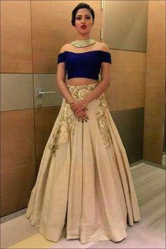 The OffShouldered Velvet Bridal Saree Blouse