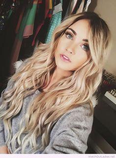 Amazing blonde ombre mermaid curls