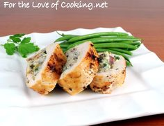 Ricotta, Mushroom, and Herb Stuffed Chicken Breasts. I'll have to try these!