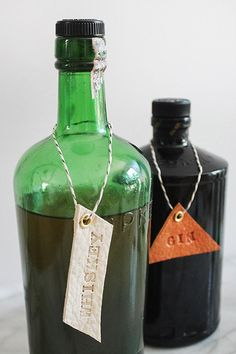 For all my liquor-loving friends - a classy way to display your booze, without the traditional bottle labels