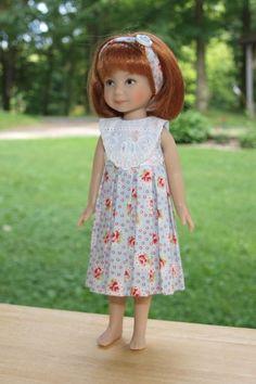 """Blue Hanna Bella dress for Dianna Effner Heartstring doll 8"""""""
