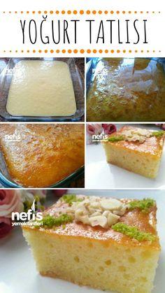 Yoğurt Tatlısı Tarifi nasıl yapılır? 7.040 kişinin defterindeki Yoğurt Tatlısı Tarifi'nin resimli anlatımı ve deneyenlerin fotoğrafları burada. Yazar: Yeliz'in Tatlı Mutfağı Sweet Desserts, Dessert Recipes, Turkish Recipes, Ethnic Recipes, Turkish Sweets, Wie Macht Man, Sweet Sauce, Yogurt, Food To Make