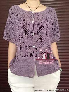 Boho Crochet Robe Crochet pattern by ElevenHandmade Diy Crochet Cardigan, Gilet Crochet, Crochet Jacket, Crochet Top, Tshirt Garn, Crochet Pincushion, Knitting Patterns, Crochet Patterns, Jacket Pattern