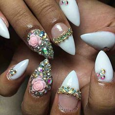 Jeweled stiletto
