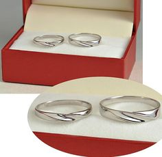 2pcs Free Engraving platinum rings, Wedding Couple Rings, Lovers rings, his and hers promise ring sets , wedding rings, valentine's gift.$33.00 USD