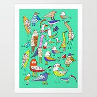 Art Print featuring Tweet Tweet Tweet. by Ashley Percival illustrator
