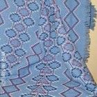 River Rocks pattern woven on Denim coloured Monk's Cloth.