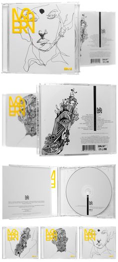 Modern CD packaging design (Dealers of Nordic Music - 2005)