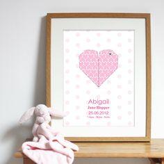 Bespoke #gift ideas: personalised #heart #poster design for girls