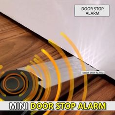 WIRELESS DOOR STOPPER ALARM is a portable alarm that make alarm when triggered, helps alert homeowner or renter to deter intruder and possibly help notifies neighbours and also security authority. Diy Home Decor Projects, Diy Home Crafts, Door Stopper, Home Safety, Home Hacks, Hacks Diy, Cool Inventions, New Gadgets, Useful Life Hacks