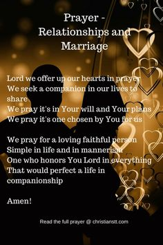 ❥✞❥ Prayer - Relationships and Marriage (1)