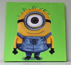 Despicable Me Minion Painting on etsy: https://www.etsy.com/listing/196090988/minion-despicable-me-painting-canvas?ref=shop_home_active_13