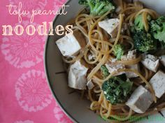 Vegan Tofu Peanut Noodles